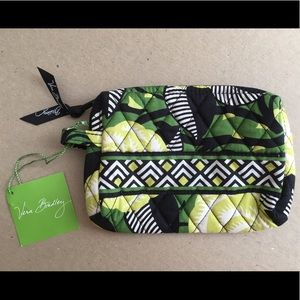 Vera Bradley Cosmetic Bag La Neon Rose Pattern